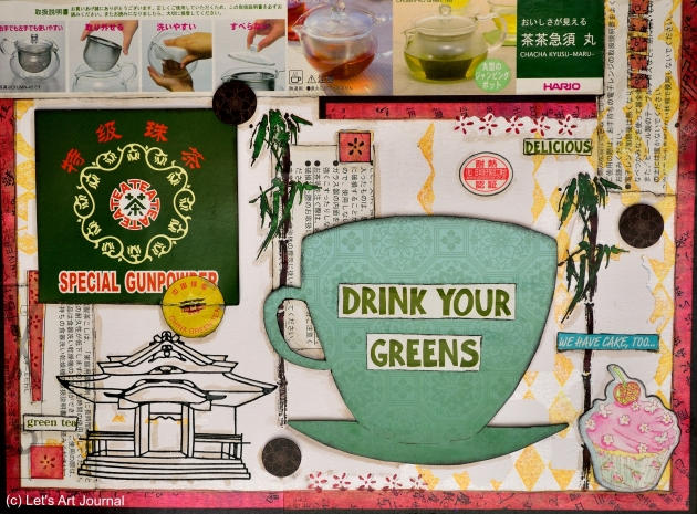 Drink your Greens - Art Journal Page